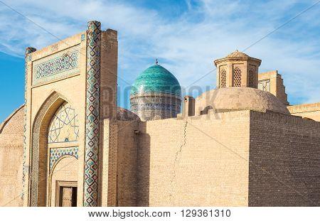 Uzbekistan Bukhara the side entrance of the Mir-i-Arab madrassah