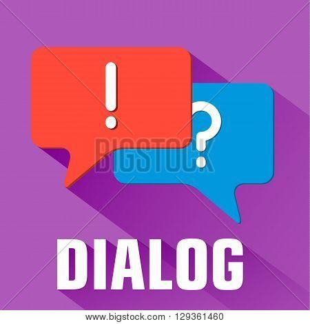 Flat Dialog Background Concept. Vector Illustration