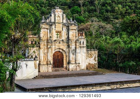 Ermita de la Santa Cruz ruins, one of the oldest hermitages in Antigua, Guatemala