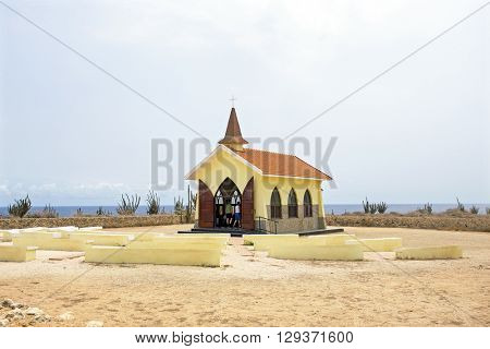 Alto Vista Chapel on Aruba island in the Caribbean