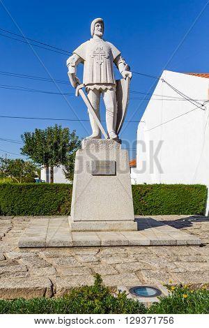 Vila Nova de Famalicao, Portugal.?? September 06, 2015: 9 de Abril Square with the Memorial to the victims of the First World War, in Vila Nova de Famalicao, Portugal.