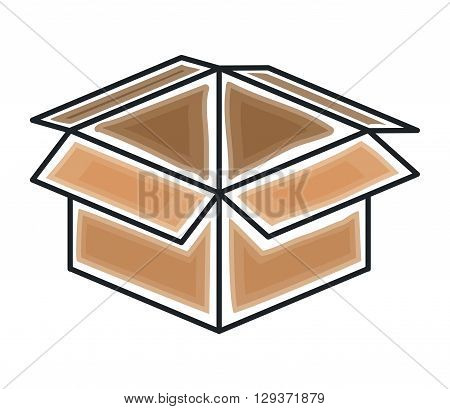 box carton icon design, vector illustration eps10 graphic