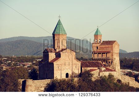 Gremi citadel and Church of the Archangels in Kakheti Georgia