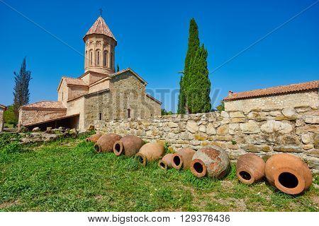 Ikalto orthodox monastery complex and Academy in Kakheti Georgia