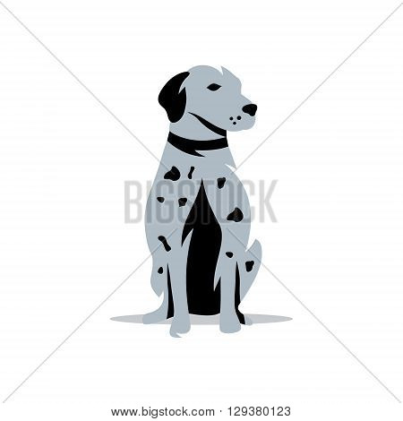 Silhouette of the Rhodesian Isolated on a White Background