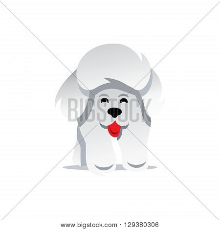Silhouette of the Yorkshire Terrier isolated on a white background
