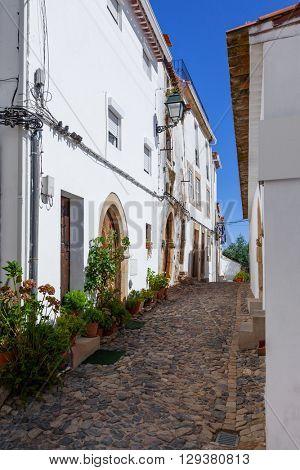 Medieval Sephardic Synagogue (13th / 14th century) in Castelo de Vide, Portalegre, Alto Alentejo, Portugal.