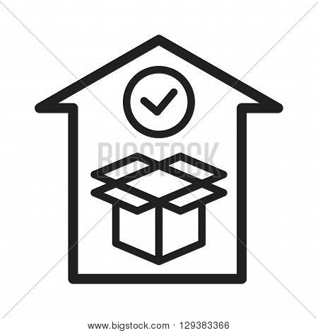 Delivery, checklist, shipment icon vector image. Can also be used for logistics. Suitable for mobile apps, web apps and print media.