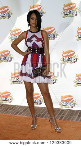 Rihanna at the Nickelodeon's 20th Annual Kids' Choice Awards held at the Pauley Pavilion in Westwood, USA on March 31, 2007.