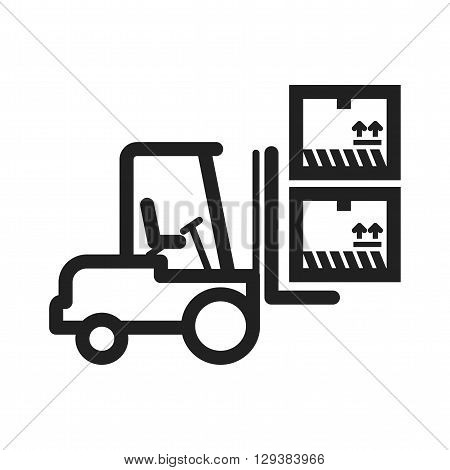 Container, lift, box icon vector image. Can also be used for logistics. Suitable for mobile apps, web apps and print media.