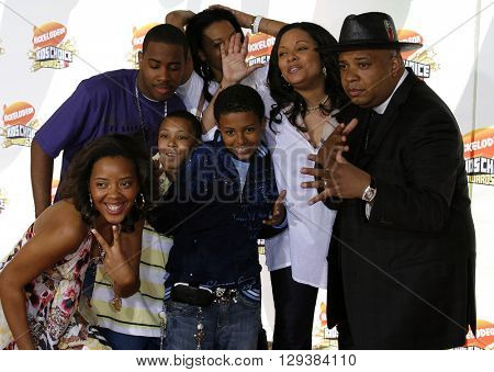 Angela Simmons, Justine Simmons, Reverend Run, Russell Simmons and Vanessa Simmons at the Nickelodeon's 20th Annual Kids' Choice Awards held at the Pauley Pavilion in Westwood, USA on March 31, 2007.