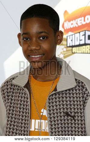 Tyler James Williams at the Nickelodeon's 20th Annual Kids' Choice Awards held at the Pauley Pavilion in Westwood, USA on March 31, 2007.