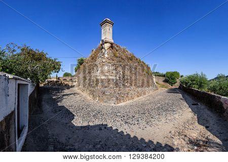 Sao Roque Fort in Castelo de Vide. Castelo de Vide, Portalegre, Alto Alentejo, Portugal.