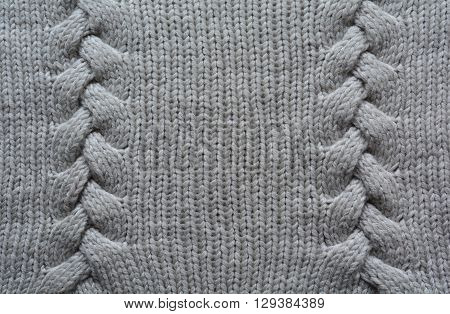 Handmade Grey Knitting Wool Texture Background