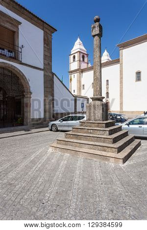 Pillory of Castelo de Vide. The place where the public justice was executed. Portalegre, Alto Alentejo, Portugal.
