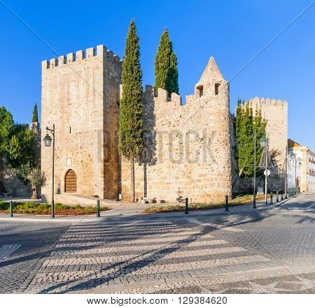 Medieval Castle of Alter do Chao, in the Portalegre District. Alto Alentejo, Portugal