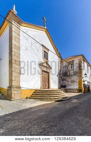 The 17th century Misericordia Chapel, used as Mortuary or Funerary Chapel. Crato, Alto Alentejo, Portugal.