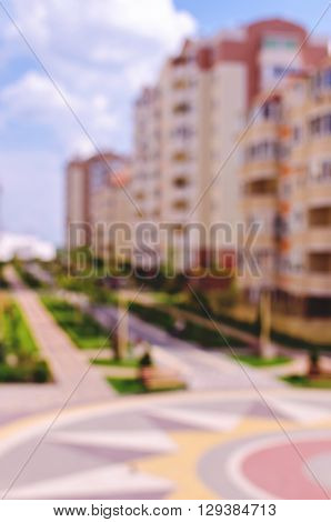 Beautiful countryside property. New residential suburban array. The main avenue well-kept park with flower beds and benches