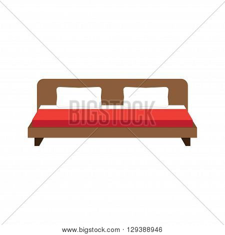 double bed icon illustration double bed icon picture double bed flat icon