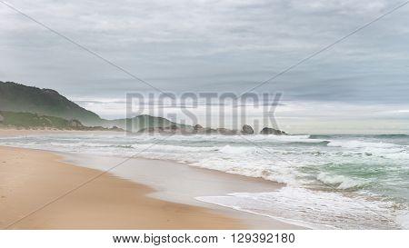 Mole Beach In Florianopolis, Santa Catarina, Brazil.