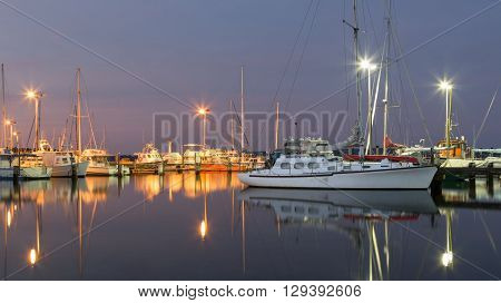 Twilight time at the marina at Oyster Harbour in Albany, Western Australia.