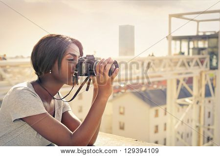 Tourist taking a picture