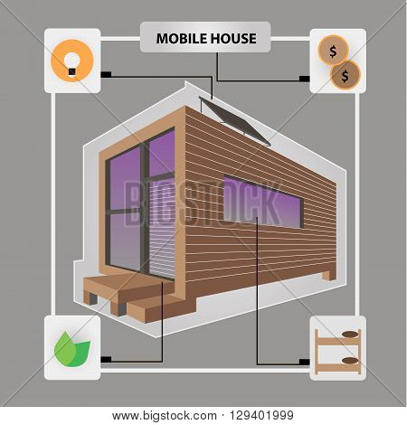 mobile house vector style  modern  design ergonomic architect