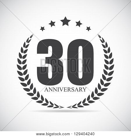 Template Logo 30 Years Anniversary Vector Illustration EPS10