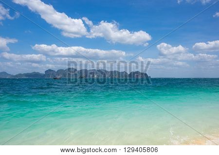 The coast of Andaman sea Krabi province Thailand