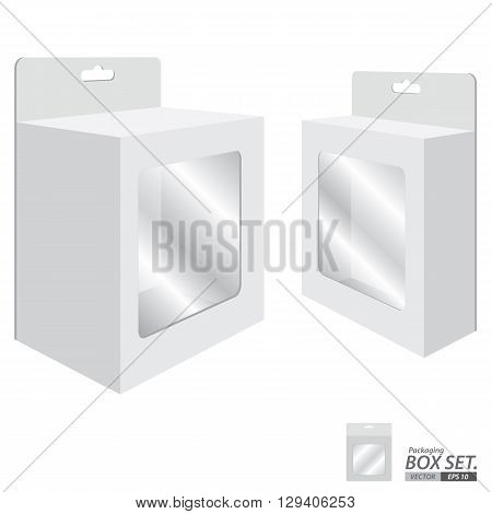 Box Packaging Design. Packaging Box for White Paper isolated on white background.