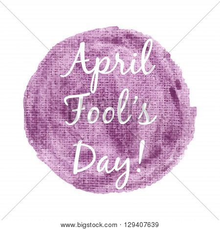 April Fool's Day Card Lettering On Gold Background Vector Illustration. Lettering Inscription For Ca