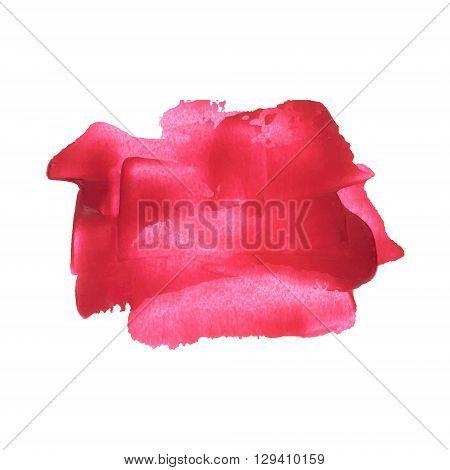 Red Pink Smear Vector Brush Stroke. Varnish Splash Line Trace. Abstract Shape Oil Acrylic Paint