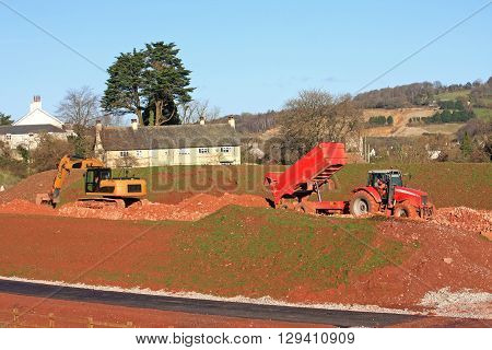 Heavy Plant working on a road construction site