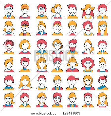 easy to edit vector illustration of people icon of different Social Groups