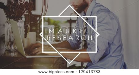 Market Research Analysing Information Concept