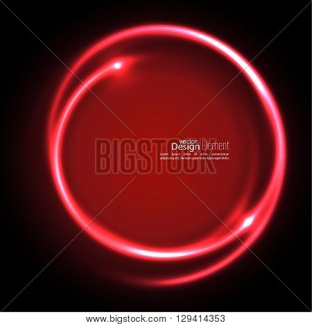 Abstract background with luminous swirling backdrop. Intersection curves. Glowing spiral. The energy flow tunnel. Vector. red, maroon, crimson, magenta, ruby