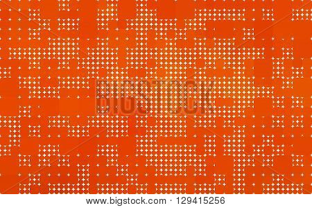 orange background made with circles and rounded squares