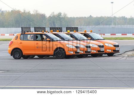 Airdrome Car Follow Me At Domodedovo Airport