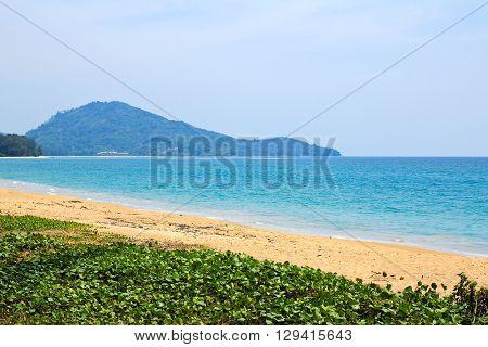 Mai Khao beach at Phuket island Thailand