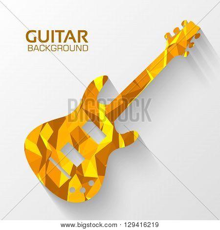 Polygonal Electro Guitar Vector Background Concept