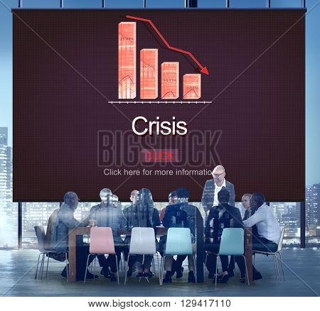 Crisis Critical Point Economy Emergency Risk Concept