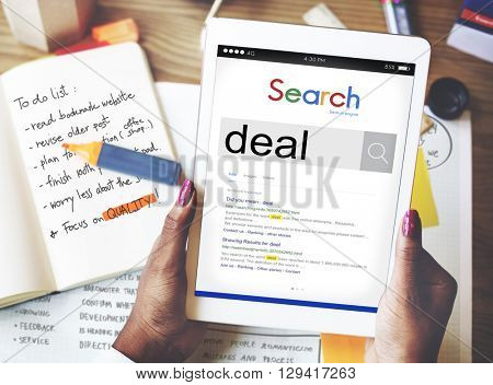 Deal Partnership Team Agreement Bargain Strategy Concept