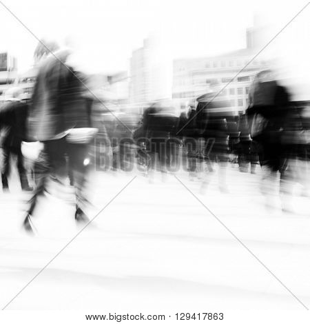 Woman Rushing City Life Hurry Concept
