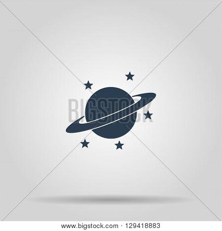 Jupiter planet icon. Modern design flat style
