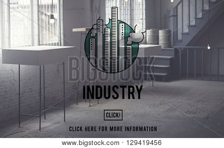 Industry Buildings General Business Enterprise Concept