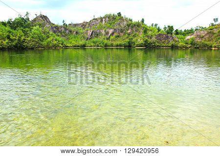 View of Ranong Canyon in Ranong ,Thailand.