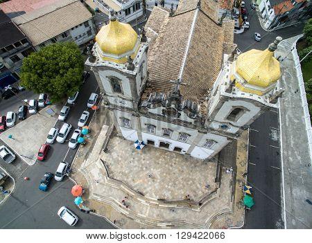 Top View of Nosso Senhor do Bonfim da Bahia church in Salvador Bahia Brazil