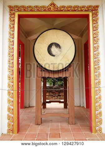 Ancient Drum at Buddhist Temple (Wat Yaichaimongkol), Ayutthaya, Thailand