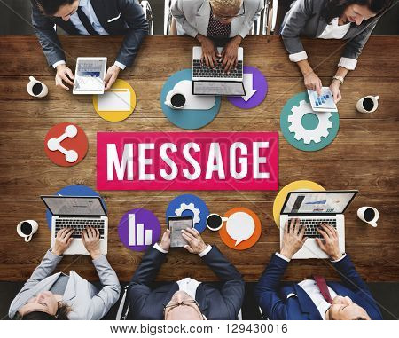 Technology Message Graphics Sharing Communication Concept