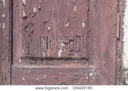 chipped paint on old wooden the door, great background or texture for your project